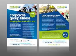 Create Leaflet Online Corporate Fitness Gym Personal Trainer Leaflet Design Logo