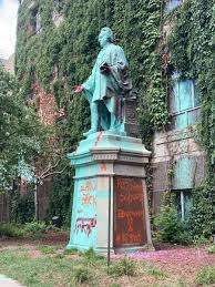 "The Eyeopener on Twitter: ""Since being tagged by BLM protestors on July 17,  more paint has appeared on the Egerton Ryerson statue, including messages  condemning residential schools and settler colonialism. Ryerson has"