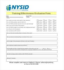 Weekly Evaluation Forms Training Feedback Form Template Free Survey Weekly Sample Software