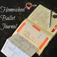 home bullet journal page