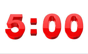 5 Minute Countdown Video Red 3d Numbers Pro Video Shop