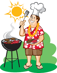 Man Grilling Hot Dogs Clip Art drawing free image download