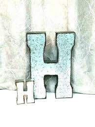 extra large metal letters initial wall decor lovely letter h nursery galvanized corrugated whole la