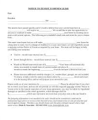Not Renewing Lease Letter Sample Ushouldcome Co