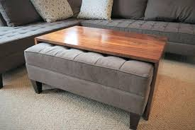 inexpensive ottoman coffee table pottery barn leather small coffe