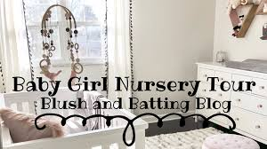 baby girl nursery tour neutrals pinks and grey blush and batting blog