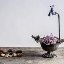 Loraine Bird with Faucet Bin Sculpture & Reviews   Birch Lane   Rustic  decor, Farmhouse decor, Decor