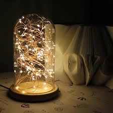 5w Glass Table Lamp Ac 110v 240v Creative Personality Diy Led Table