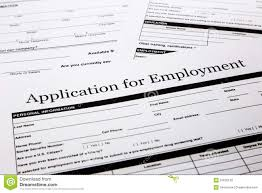 Job Application Form Stock Photo Image Of Employment 31876128