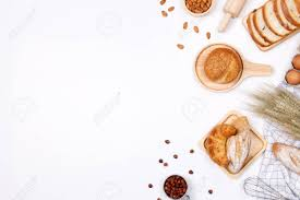 Homemade Breads Or Bun Croissant And Bakery Ingredients Flour