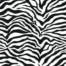 Behang Zebraprint Zwartwit Black And White Zebra Print