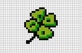 Générateur de feuilles vierges gratuites à imprimer. Four Leaf Clover Pixel Art Dessin Petit Carreau Coloriage Pixel Coloriage Pixel Art
