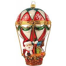 Christbaumschmuck Weihnachtsmann Im Heißluftballon