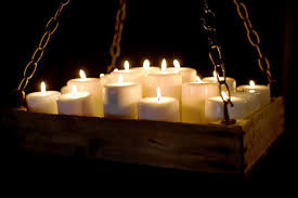 wax candle chandelier