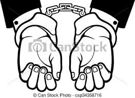 hands in shackles drawing. hands in handcuffs shackles drawing n