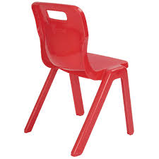red school chair. Simple Red Titan One Piece School Chair Size 3 350mm Red With D