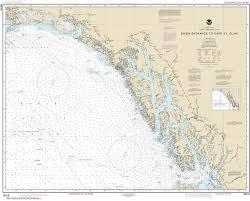 Southeast Alaska Chart 16016 Dixon Entrance To Cape St Elias Alaska Nautical Chart