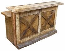 Old Fashioned Western Rustic Wood Bar