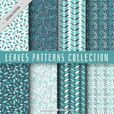 Pattern Collection Fascinating Collection Of Pattern With Leaves Vector Free Download