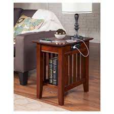 Mission Chair Side Table with Charger Atlantic Furniture Tar