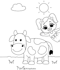 How many dogs and cats educational game. Coloring Pages Cow Printable Cow Coloring Pages