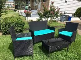 patio furniture set 4 piece outdoor