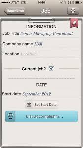Resume Apps Resume Work Template