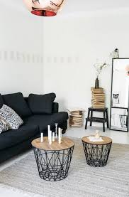 two wire frame coffee tables in living area
