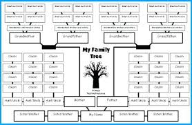 Family Tree Template In Word Free Printable Diagrams Reunion