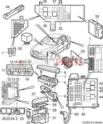 Mechanical electrical large size esaabparts saab electrical parts relays fuses and wiring diagram