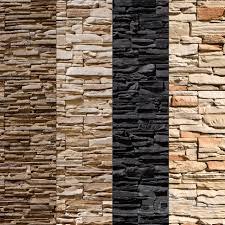 stone stone walls set 8 vray material