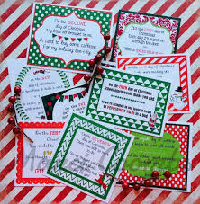 12 Days of Christmas Printable Tags Labels for Teachers Friends Family  Classroom Gifts School