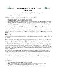 Resume Mandate Letter Template Apprenticeship Resume Or Cv