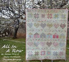 All In A Row Quilt Â« Moda Bake Shop & All In A Row by Melissa Corry Hello Fellow Moda Bake Shop ... Adamdwight.com