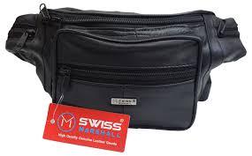 new leather pack mens waist belt bag womens purse hip pouch travel