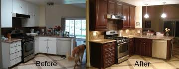kitchen cabinet refinishing before and after imanisr com