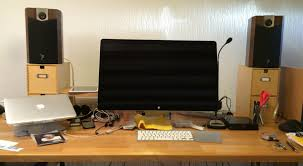 speakers desk. position your speakers at least a foot or two from wall: if you have wall behind desk, don\u0027t put the too close to wall; necessary, desk