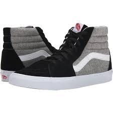 vans shoes black and grey. vans sk8-hi ((wool sport) black/gray) skate shoes ( black and grey