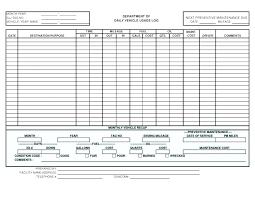 Service Record Template Excavator Fuel Log Vehicle Poporon Co