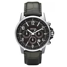 dkny ny1464 mens chronograph black leather strap classic watch