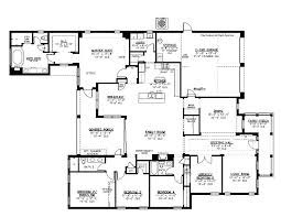 five bedroom one story house plans awesome 5 single 1 3 bath full size