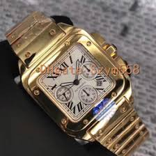 men real gold watches online men real gold watches for santos100 top quality 7750 automatic movement 18k real gold man watch chronograph waterproof stainless steel sec 9 100xl