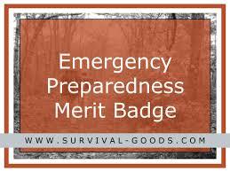 Emergency Preparedness Merit Badge Chart Emergency Preparedness Merit Badge