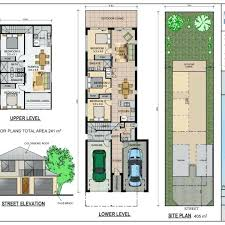 plans medium size of floor plans for a narrow lot house with front garage philippines