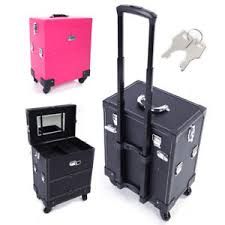 Image is loading New-Beauty-Trolley-7-Compartment-Box-Makeup-Cosmetic-