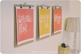 diy office wall decor. DIY Office On A Budget | Cheap Home Ideas For Diy Wall Decor