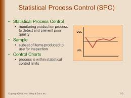 Statistical Process Control 1 Chapter 3 Lecture Outline
