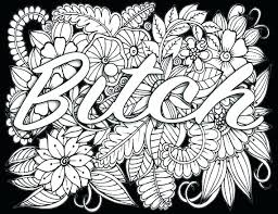 Cuss Word Coloring Pages Free Printable For Adults Only Swear Words