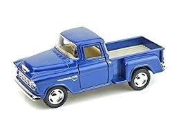 Amazon.com: KiNSMART 1955 Chevy Stepside Pick-Up 1/32, Blue: Toys ...