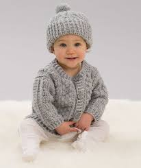 Redheart Free Crochet Patterns Adorable Aran Stitch Cardigan Hat Red Heart